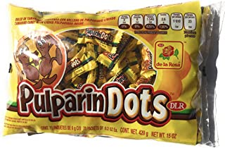 Bag Of Pulparindots Tamarind Flavor contains 70 packets of 2 pieces ea Mexican Candy (Tamarindo)