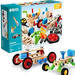 BRIO Builder - 34587 Builder Construction Set | 135-Piece Construction Set for Kids Age 3 and Up