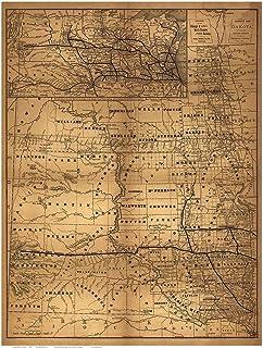 Dakota Territory - 1882 Old Map Reprint - North Dakota State