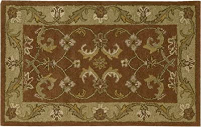 """Nourison Everywhere Essential (EVE22) Rust Rectangle Area Rug, 1-Feet 8-Inches by 2-Feet 10-Inches (1'8"""" x 2'10"""")"""