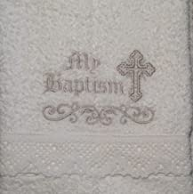 lds baptism towel embroidery