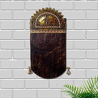 Unravel India sheesham Wood dokhra Work Customized Name Plate