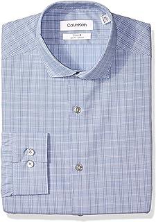 6612f0a7f2f Calvin Klein Men s Dress Shirt Non Iron Stretch Slim Fit Check