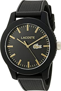 Lacoste Mens Quartz Watch, Analog Display and Silicone Strap 2010818