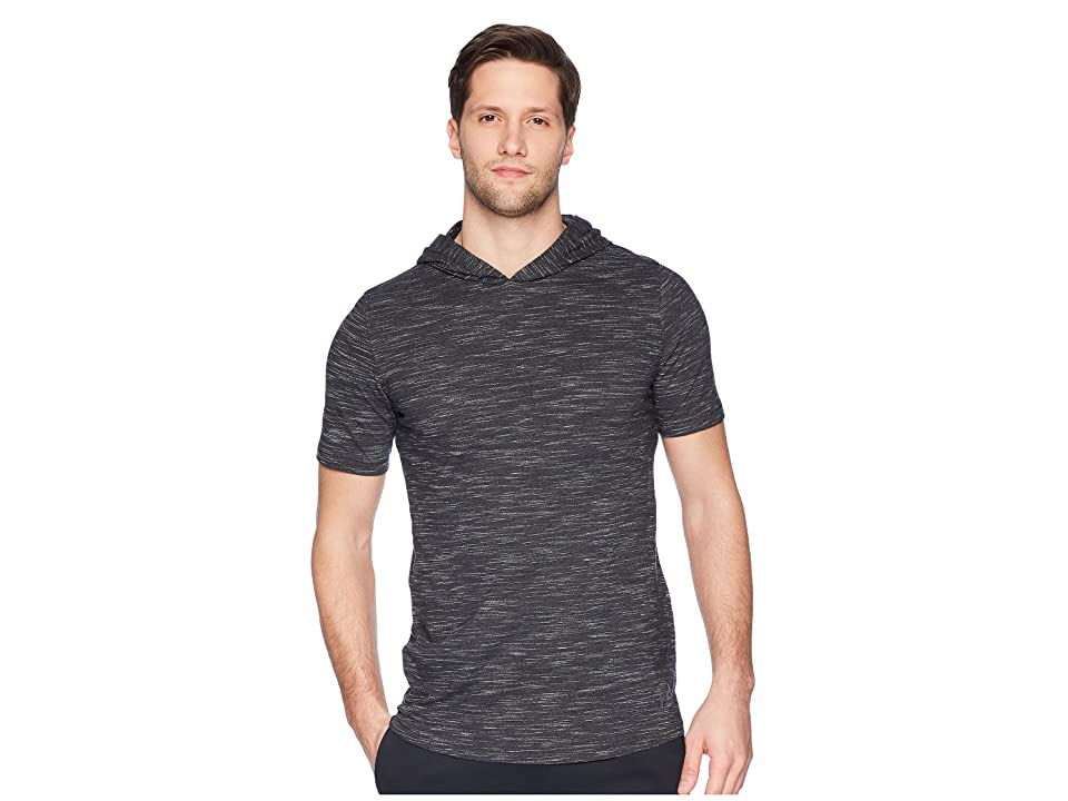 Under Armour Sportstyle Core Short Sleeve Hoodie (Black/Graphite) Men
