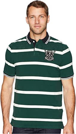 Classic Fit Striped Rowing Pique Polo