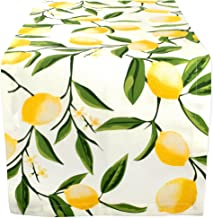 DII Cotton Table Runner for Dinner Parties, Summer BBQ & Outdoor Picnics -14x108, Lemon Bliss