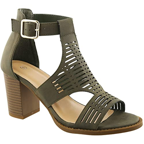 65979b27fac Gayle Cage Caged Strappy Comfortable Classic Cute Casual Sandal for Women  Ladies Teens (Assorted Sizes