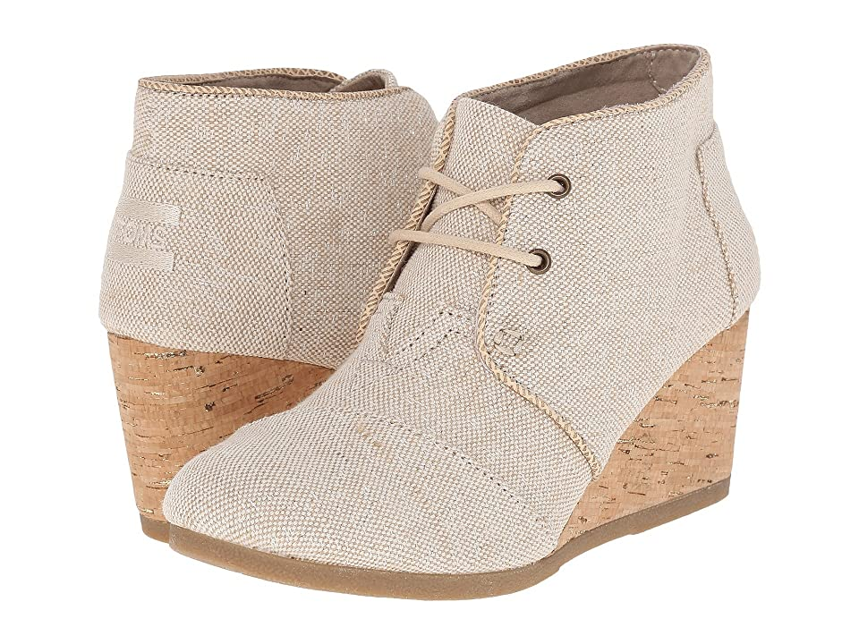 TOMS Desert Wedge (Natural Metallic Linen) Women