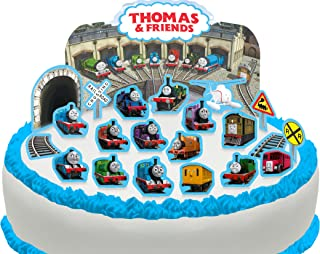 Cakeshop PRE-CUT Thomas the Tank Engine & Friends Edible Cake Scene - 22 pieces