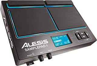 Alesis Sample Pad 4 | Compact Percussion and Sample Triggering Instrument with 4 Velocity Sensitive Pads, 25 Drum Sounds and SD/SDHC Card Slot