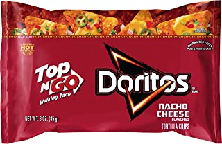 Frito-Lay Top N Go Doritos Nacho Cheese, 2.5oz (12 Count)