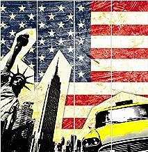 """Flächenvorhang Schiebegardine Digitaldruck  /""""NEW YORK SEPIA/"""" ohne Paneelwagen"""