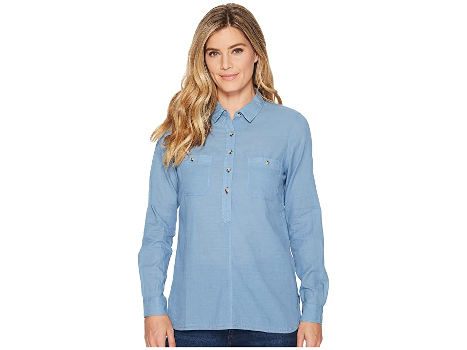 Toad&Co Indigo Ridge Long Sleeve Shirt (Light Indigo Solid) Women