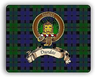 Dundas Scottish Clan Tartan Crest Computer Mouse Pad