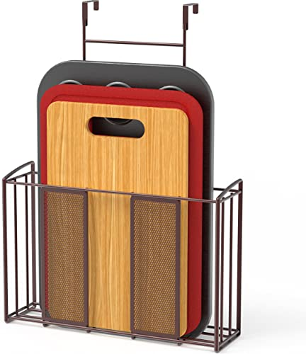 new arrival SimpleHouseware outlet online sale wholesale Over Cabinet Door Organizer, Mesh Bronze sale