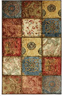 Mohawk Home Free Flow Artifact Panel Multicolor Patchwork Printed Area Rug, 6 x 9, Multicolor