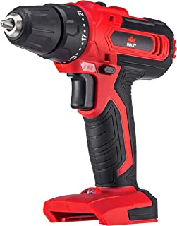 NoCry 20V Cordless Power Drill - Bare Tool ONLY with 266 in-lb (30 N.m) Max Torque Driver, 2 Gear Speeds (Max 1400 RPM), 3/8 inch Chuck, 21+1 Clutch Positions & LED work light