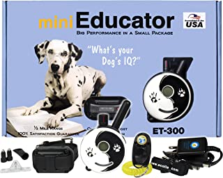Best E-Collar - ET-300ZEN - 1/2 Mile Remote Waterproof Trainer Mini Educator - Static, Vibration and Sound Stimulation Collar with PetsTEK Dog Training Clicker Review