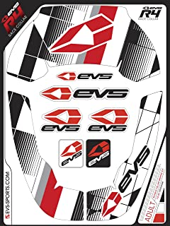 EVS Sports R4 Graphic Kit (Crossfade Red, Youth)