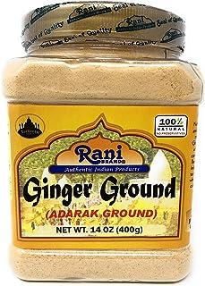 Rani Ginger (Adarak) Powder Ground, Spice 14oz (400g) PET Jar ~ Natural | Vegan | Gluten Free Ingredients | NON-GMO | Indian Origin