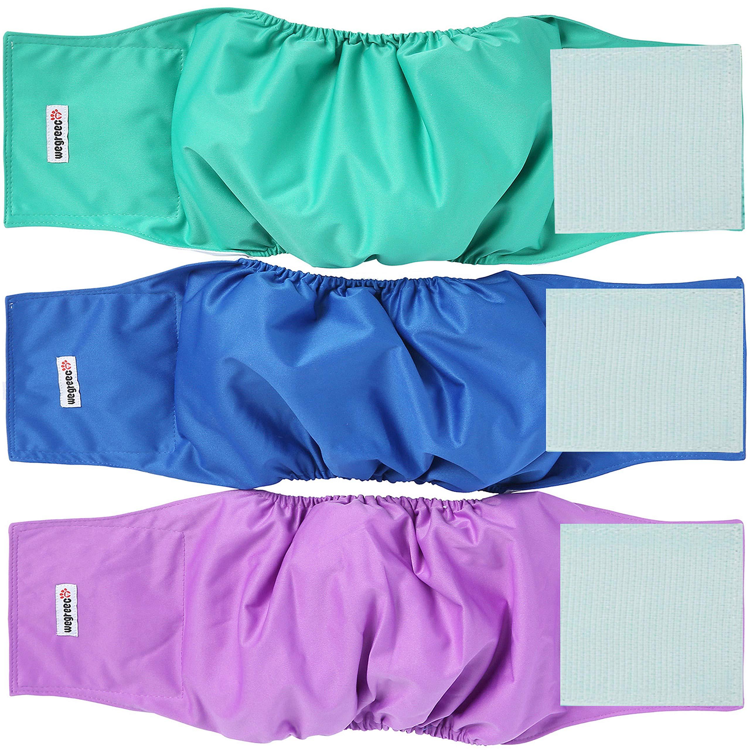 wegreeco Washable Dog Diapers Purple