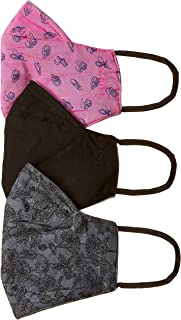 Amazon Brand - Symbol Women's Cotton Reusable Face Mask (Pack of 3) (SY-WW-Mask2_Multicolour 4_Free Size)