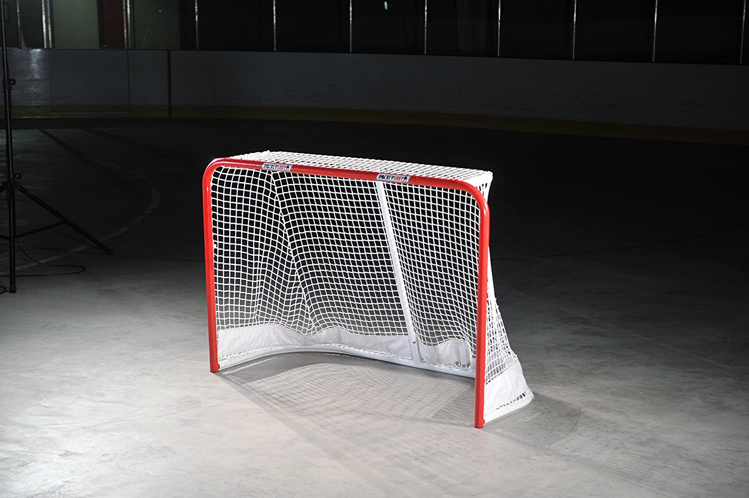 HockeyShot Goal Red Posts White Net Ai Training All stores are sold Size  Full Hockey