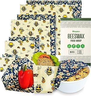 HEYECO Bienenwachstücher - aus Bio Bienenwachs und Öko Baumwolle für Lebensmittelverpackung, Wachspapier, Nachhaltige Alternative zur Frischhaltefolie