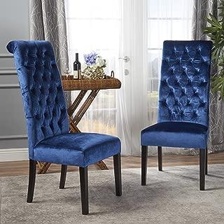 Best high back blue velvet chair Reviews