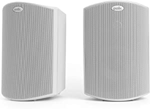 Polk Audio Atrium4 Outdoor Speakers with Powerful Bass (Pair, White) | All-Weather Durability | Broad Sound Coverage | Speed-Lock Mounting System
