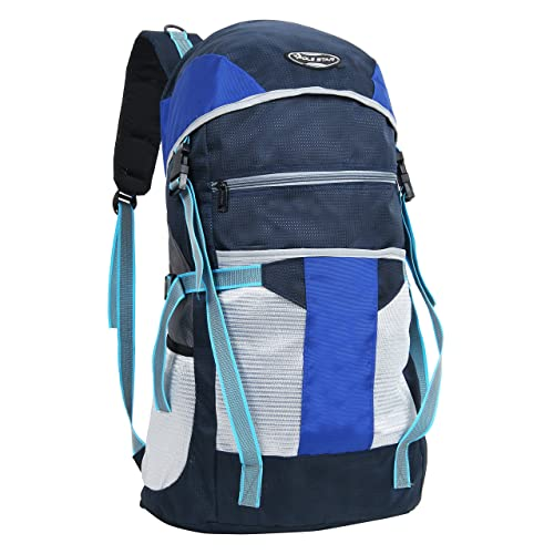 POLESTAR Trek 44 Lt Blue & Grey Rucksack/Travel/Weekend Backpack Bag