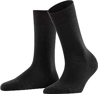 FALKE Womens Sensitive Berlin Casual Sock - Merino Wool Blend, In Black, Grey or Navy Blue, US sizes 5 to 10.5, 1 Pair