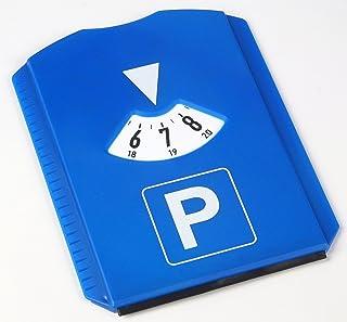 AM/63 1 x Parkscheibe mit Eiskratzer, Blau, 11,8x15,5 cm, aus Kunststoff