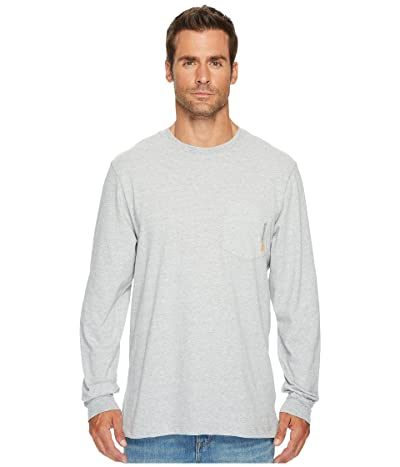 Timberland PRO Base Plate Blended Long Sleeve T-Shirt (Light Grey Heather) Men
