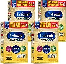 Enfamil NeuroPro پودر شیرخشک کودک فرمول ، 31.4 اونس (بسته 4) - MFGM ، Omega 3 DHA ، پروبیوتیک ها ، آهن و پشتیبانی ایمنی