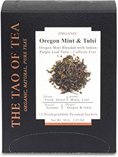 The Tao of Tea Oregon Mint & Tulsi Box Pyramid Sachets, 1.05 Ounce