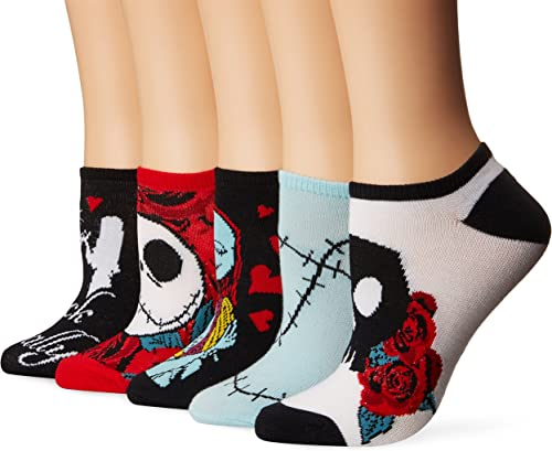 Disney Nightmare Before Christmas Women's 5 Pack No Show Socks