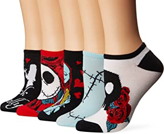Nightmare Before Christmas Women's 5 Pack No Show Socks