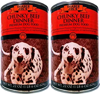Trader Joes Premium Dog Food Chunky Beef Dinner 2 Cans