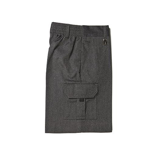 9f1eda747f School Boys Uniform Cargo Long Shorts Trousers Age 4-13 Years Grey Navy