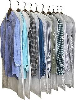 InikoLife 洋服 カバー 日本製 クリアタイプ 10枚組 (通常サイズ) 前面はハッキリ見えるクリア素材 背面は通気性抜群の不織布素材 2素材を組み合わせたアイデア洋服カバー 大切な衣類を安心保管