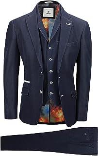 Men's Tailored Fit 3Piece Blue Formula Prom Design