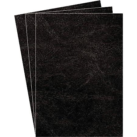 Fellowes 5370405 Delta - Lot de 100 A4 Couvertures de reliure Grain Cuir - Noir