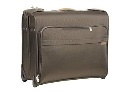 Briggs & Riley Baseline Deluxe Wheeled Garment Bag (Olive) Luggage