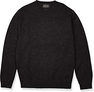 Men's Shetland Crew Neck Sweater Washable Wool