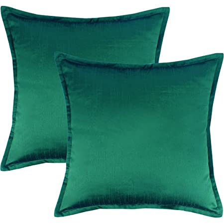 Smoothweave Euro Pillow Sham Emerald Green Square 26 x 26in Tailored