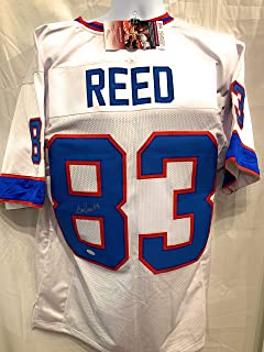 Andre Reed Buffalo Bills Signed Autograph White Custom Jersey JSA Witnessed Certified
