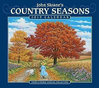 John Sloane's Country Seasons 2019 Deluxe Wall Calendar