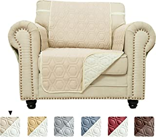 Chenlight Chair Slipcover Furniture Protector Slip Resistant Waterproof Stain Resistant Machine Washable Sofa Cover for Kids Children Pets Dog Cat (Chair:Khaki)